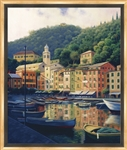 Portofino Afternoon Limited Edition Framed Canvas 31x23