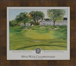 2009 PGA Oakland Hills Official Poster Framed