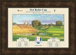 2016 Official Ryder Cup framed poster