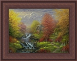 Framed 12x16 Secluded Cottage by Abraham Hunter