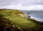 Golf Course by the Sea gallery wrapped giclee Canvas
