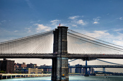 Brooklyn Bridge in New York. A gallery wrapped canvas by Kelly Wade