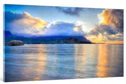 Hanalei Bay Hawaiian Islands. A gallery wrapped canvas by Kelly Wade