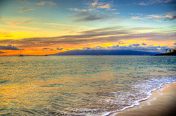 Ka'anapali Sunset Hawaiian Islands. A gallery wrapped canvas by Kelly Wade