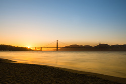 Golden Sunset-San Francisco by Scott Barlow