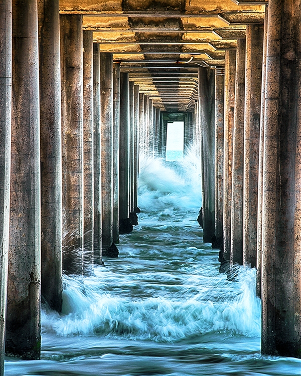 Inside the Pillars - Pier giclee canvas by Don Schimmel