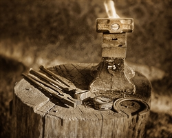 Tools of the Trade I - Blacksmith giclee canvas by Don Schimmel