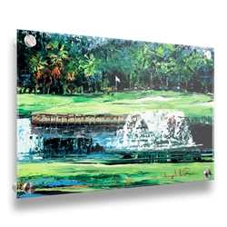 Signature Hole 18x24 golf image on acrylic