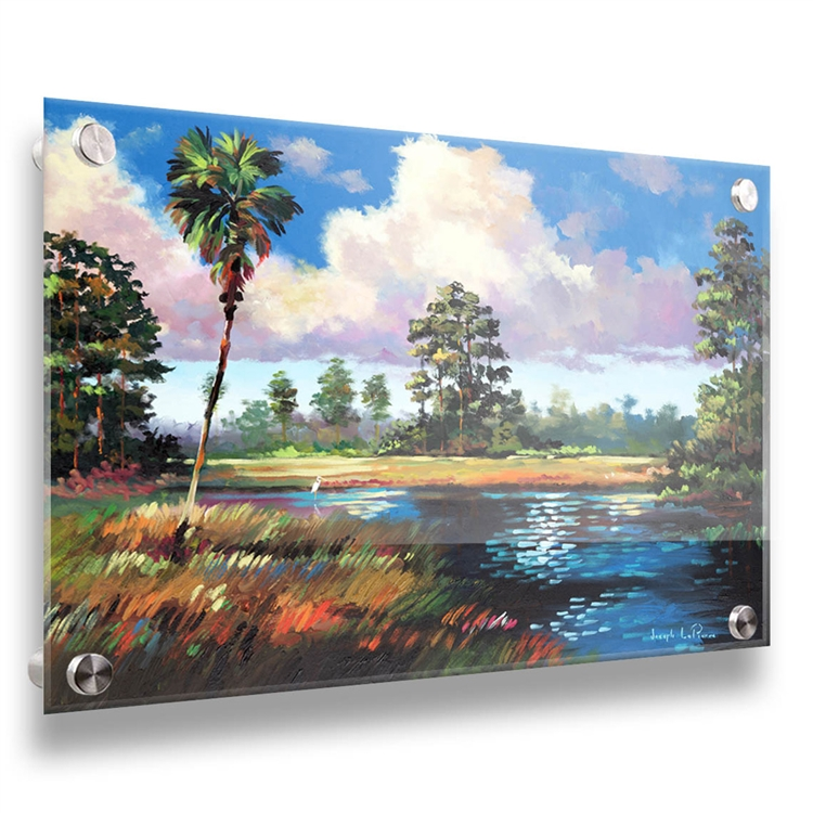Sweetwater Glade 24x32 tropical scene on acrylic