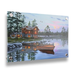 Blessed 24x32 Acrylic cabin image by Geno Peoples