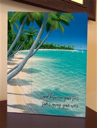 """Always Sunday - Sand beneath your toes, takes away your woes"" quote Boxed Board"