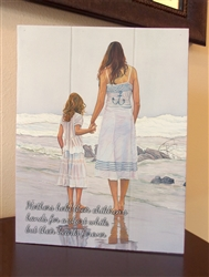 """Tides that Bind - Mothers hold their Childs...."" quote Boxed Board"