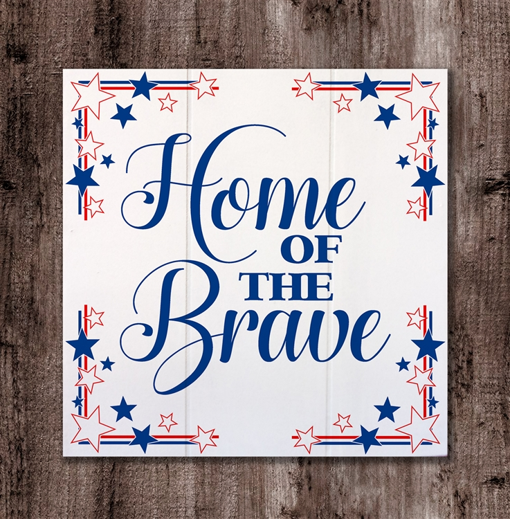 Home of the Brave wood box board