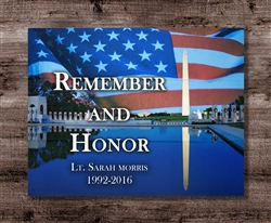 "Veterans ""Remember and Honor"" Personalized Boxed Board"
