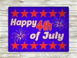 """Happy 4th of July"" metal sign 15 1/2x11 1/2"