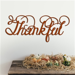 THANKFUL word art - Wood Laser Cut Wall Decor