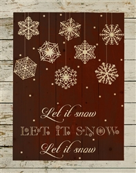 Let it Snow - wood plaque