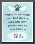 Personalized dog memorial wall plaque 9x12