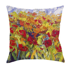 14x14 Spring Fling Decorative Pillow by Jeff Boutin