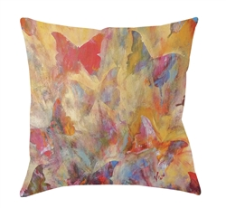 "14x14 ""Fancy Fly"" Decorative Pillow by Jeff Boutin"