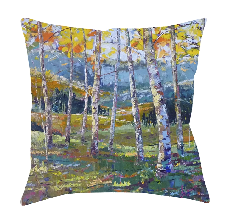"14x14 ""Point of View"" Decorative Pillow by Jeff Boutin"