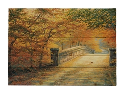 Autumn Bridge Wood pallet by Charles White