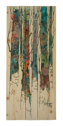 Birch II Wood pallet by Cheri Greer