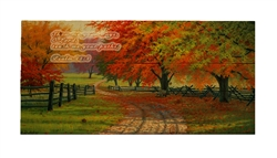 Path Through the Maples-With Psalm 25: 4 Wood pallet by Charles White