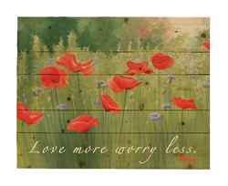Backyard Poppies - Wood Pallet With Saying