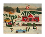 It's a Jolly Dolly Holiday by Wilfred Limvelanzia Decorative Wood wall plaque