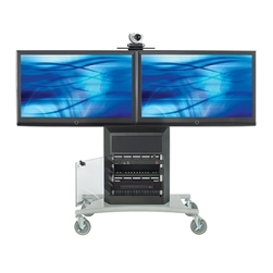 "Avteq RPS-1000L-E Dual 70"" Display Cart"
