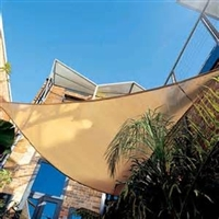10' Triangle Sun Sail Shade - Sandy Beach