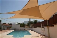 15'x15'x21' Right Triangle Sun Sail Shade - Available in 3 Colors