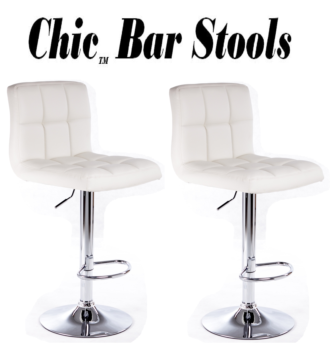 Chic Contemporary Leather Bar Stools