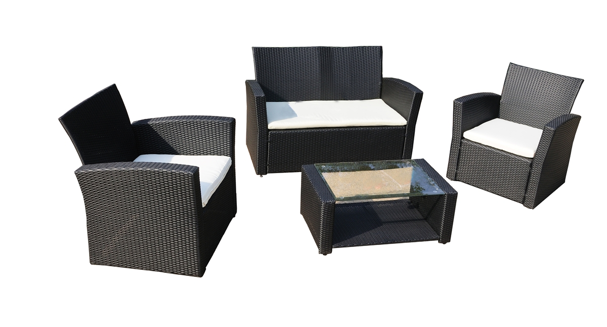 - Del Mar Collection - 4pc Outdoor Wicker Furniture Set