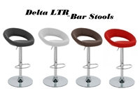 Delta LTR Faux Leather Adjustable Bar Stools - Set of 2
