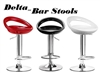 Delta Modern Adjustable Bar Stool - Set of 2