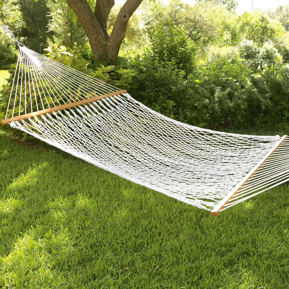 double rope hammock w wooden spreader bars rope hammock w wooden spreader bars  rh   southmissiononline