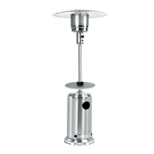 Garden Sun GS4400SS Floor Standing 44,000 BTU Propane Powered Patio Heater  With Push Button Ignition With ...