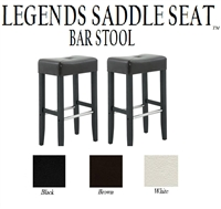 "Legends Modern 30"" Saddle Seat Bar Stools (Set of 2)"