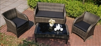 Mission Hills Collection - 4pc Outdoor Wicker Patio Furniture Set
