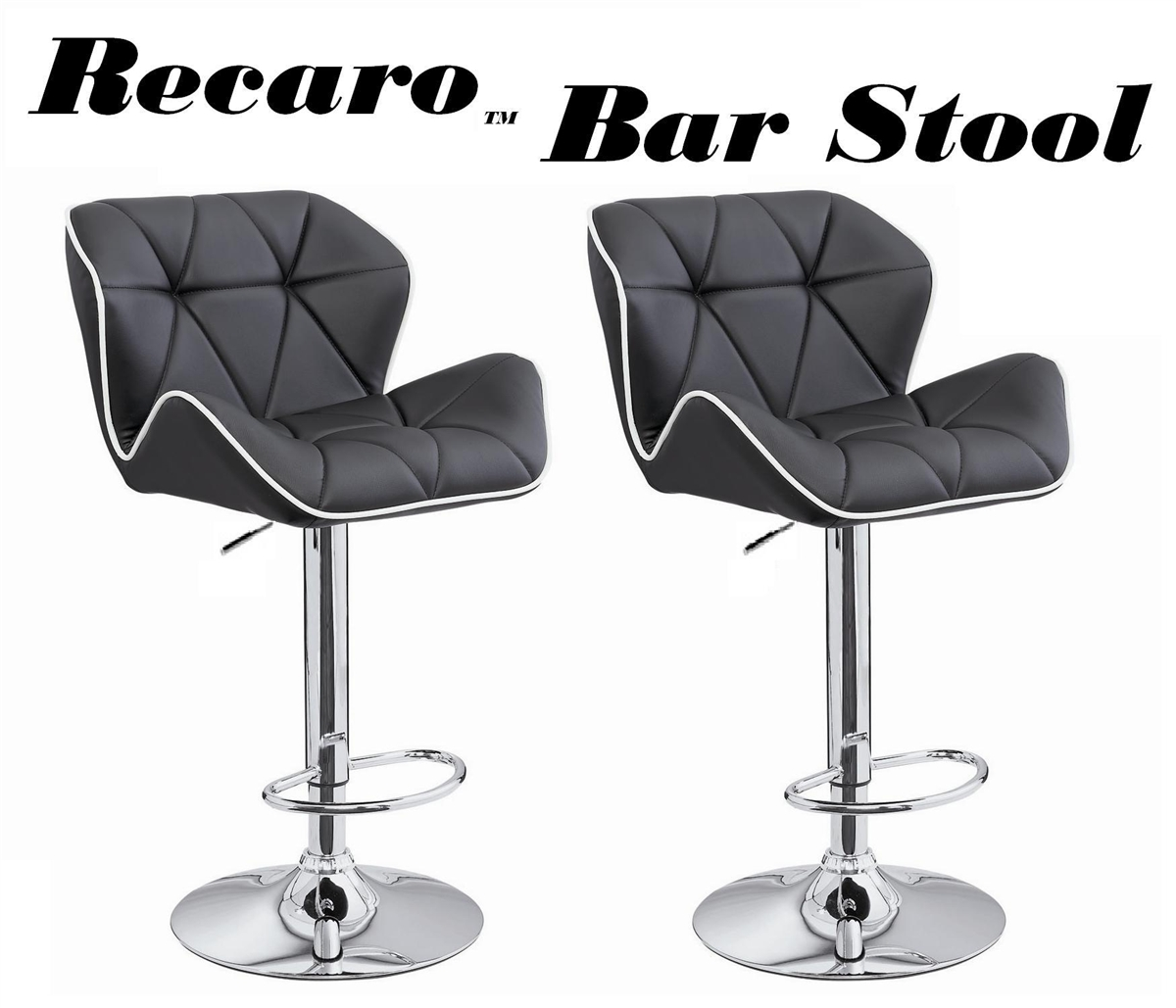 Recaro Modern Adjustable Bar Stool   Set Of 2