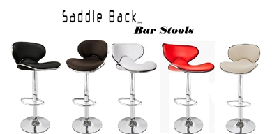 Saddleback Modern Adjustable Bar Stool (Set of 2)