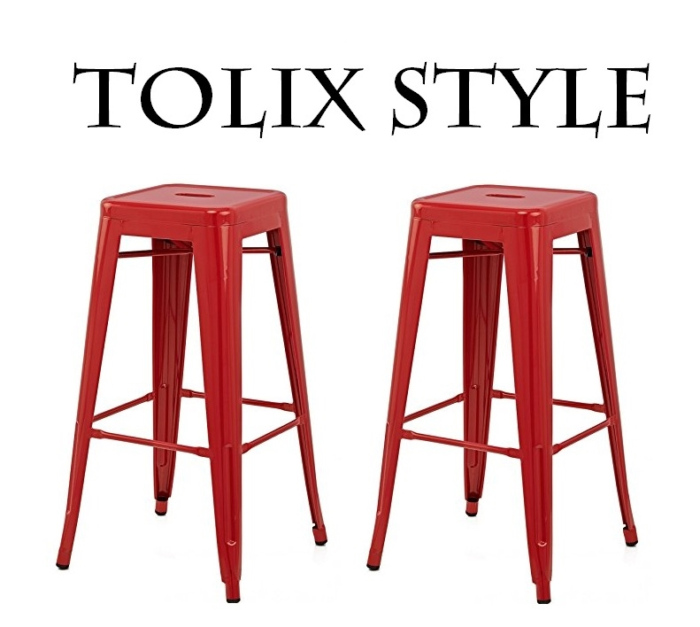 Set of 4 - Tolix Style Metal Counter Stools with Powder Coated Finish (24\  - 5 Different colors available)  sc 1 st  South Mission & Set of 4 - Tolix Style Metal Counter Stools with Powder Coated ... islam-shia.org