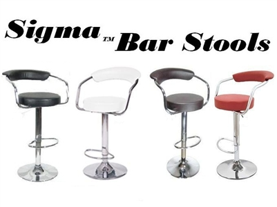 Sigma Faux Leather Bar Stool - Set of 2