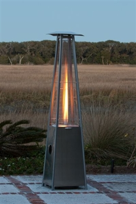 The Flame - Quartz Stainless Steel Propane Patio Heater
