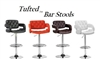 Tufted Modern Adjustable Bar Stool - Set of 2