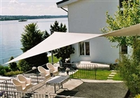 Waterproof 20'x16' Rectangle Sun Sail Shade - White Creme
