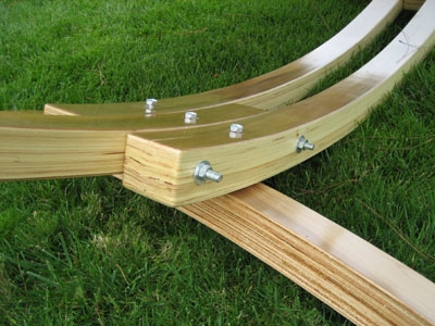Our ... - Wooden Arc Cypress Hammock Stand