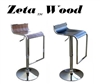 Zeta Wood Modern Adjustable Bar Stool - Set of 2